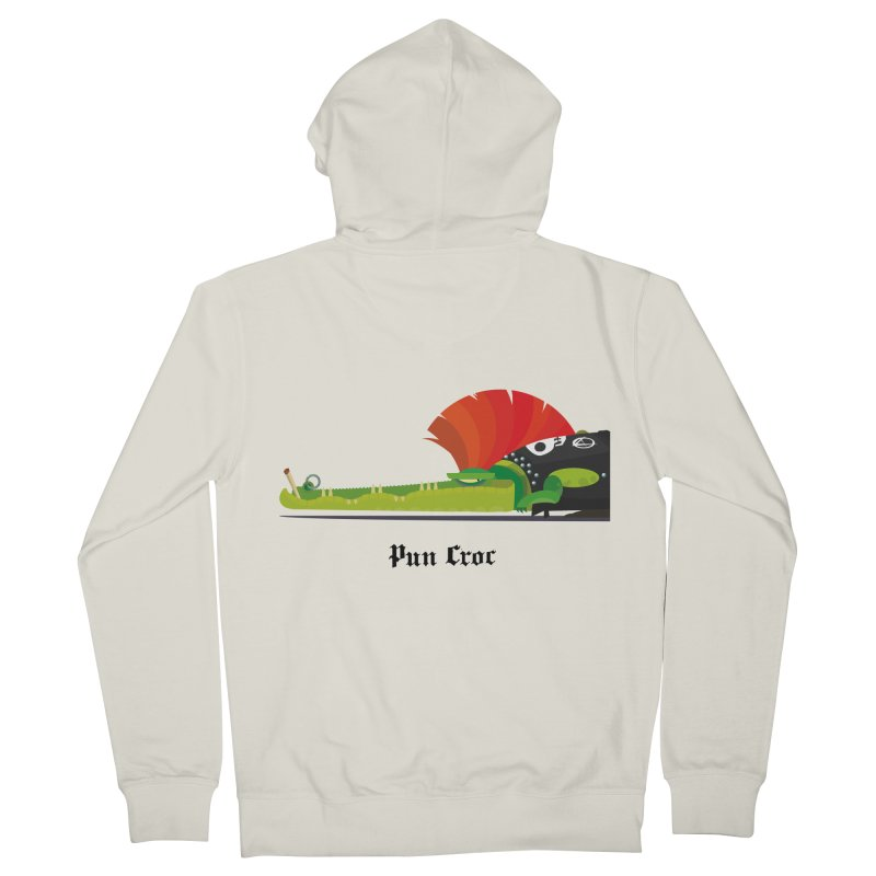 Pun Croc/ zip-up hoody (light colours) in Men's French Terry Zip-Up Hoody Heather Oatmeal by CDFBstuff