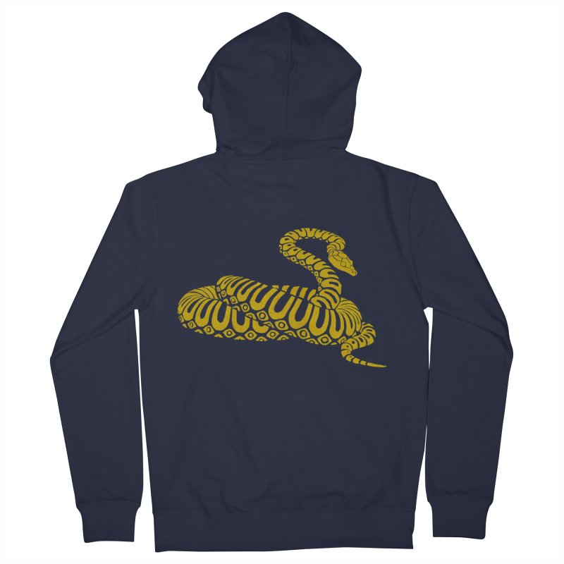Snake Print yellow/ zip-up hoody Men's Zip-Up Hoody by CDFBstuff