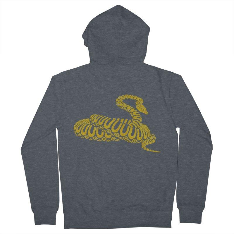 Snake Print yellow/ zip-up hoody Men's French Terry Zip-Up Hoody by CDFBstuff
