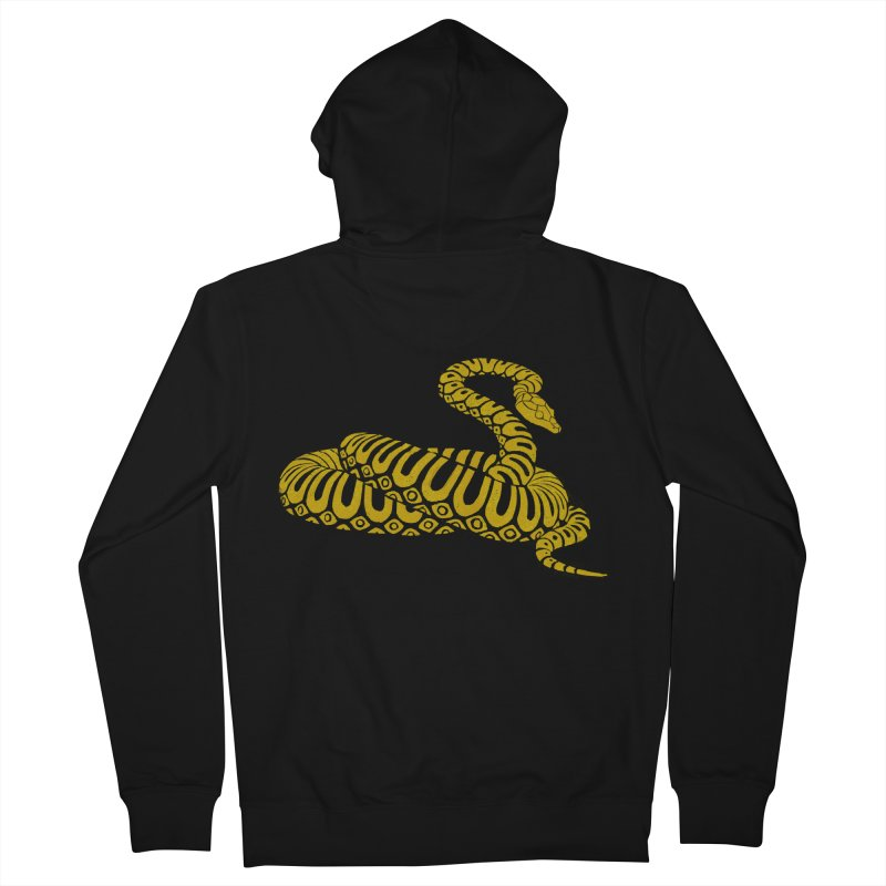 Snake Print yellow/ zip-up hoody Men's French Terry Zip-Up Hoody by CDFBstuff