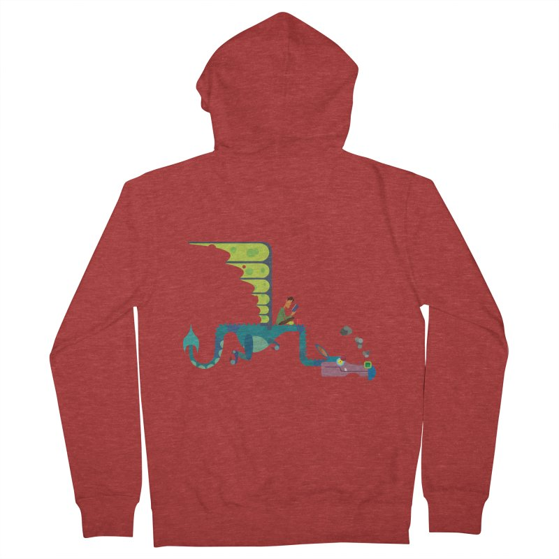 Book Dragon/ zip up hoody Women's French Terry Zip-Up Hoody by CDFBstuff