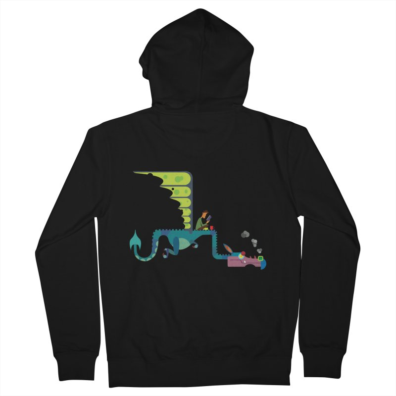 Book Dragon/ zip up hoody Men's French Terry Zip-Up Hoody by CDFBstuff