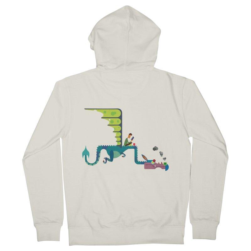 Book Dragon/ zip up hoody Men's French Terry Zip-Up Hoody by CDFBstuff