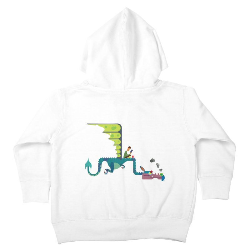 Book Dragon/ zip up hoody Kids Toddler Zip-Up Hoody by CDFBstuff