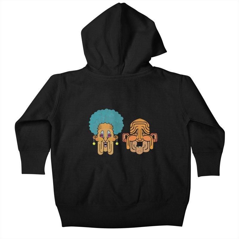 Old Folk/ zip-up hoody Kids Baby Zip-Up Hoody by CDFBstuff