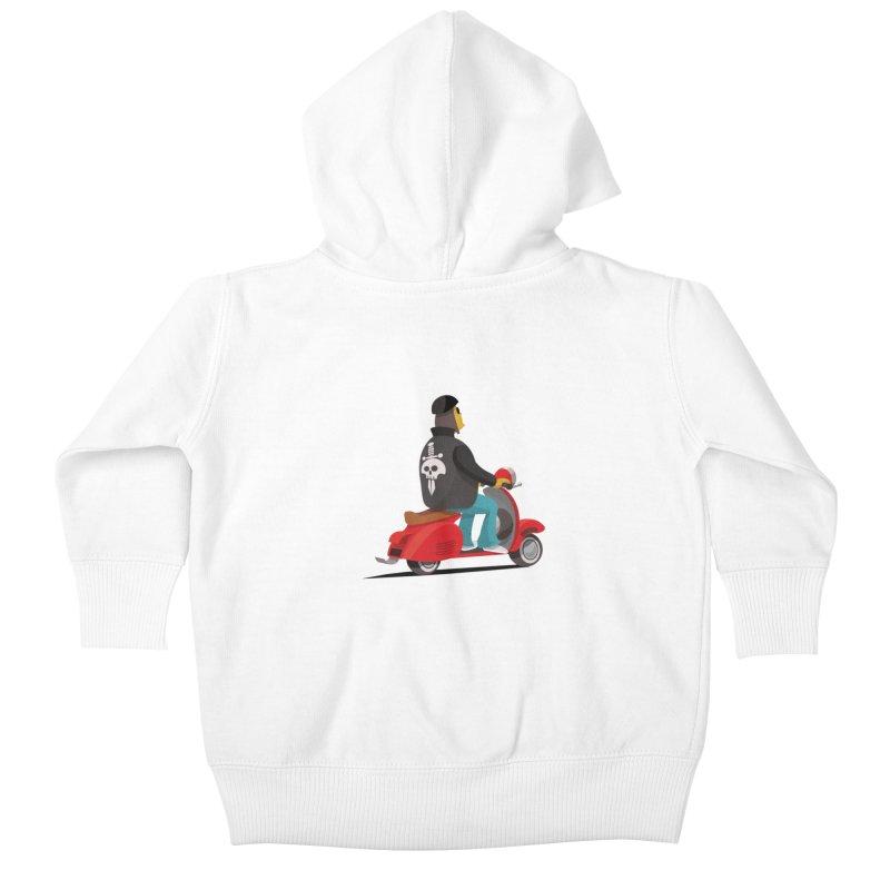 Low Rider/ zip up hoody Kids Baby Zip-Up Hoody by CDFBstuff