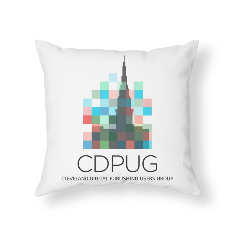 Dark Letters Logo Home Throw Pillow by CDPUG's Artist Shop