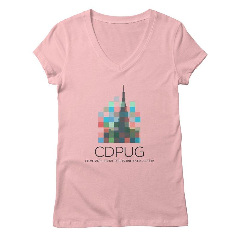 Dark Letters Logo Women's V-Neck by CDPUG's Artist Shop