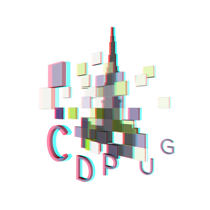 Anaglyph Logo Men's Sweatshirt by CDPUG's Artist Shop