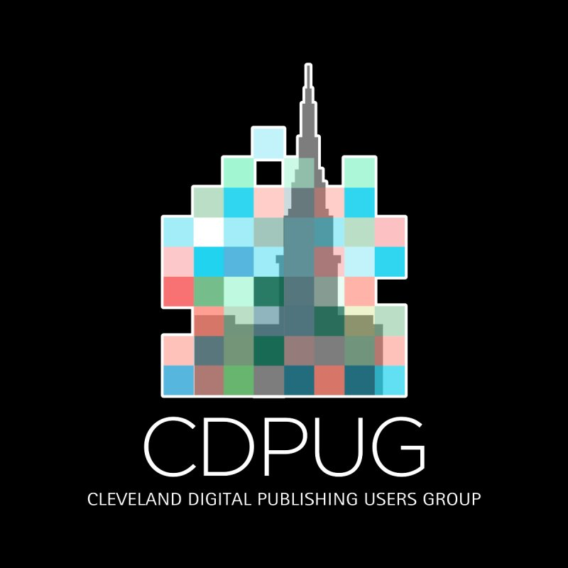 Logo with white letters by CDPUG's Artist Shop
