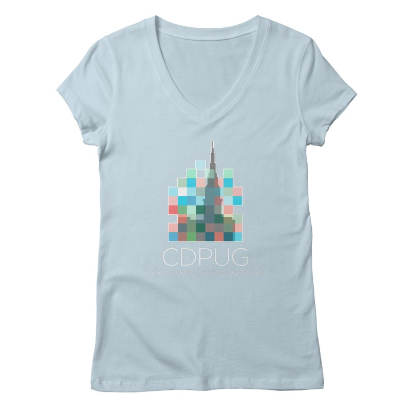 Logo with white letters Women's V-Neck by CDPUG's Artist Shop