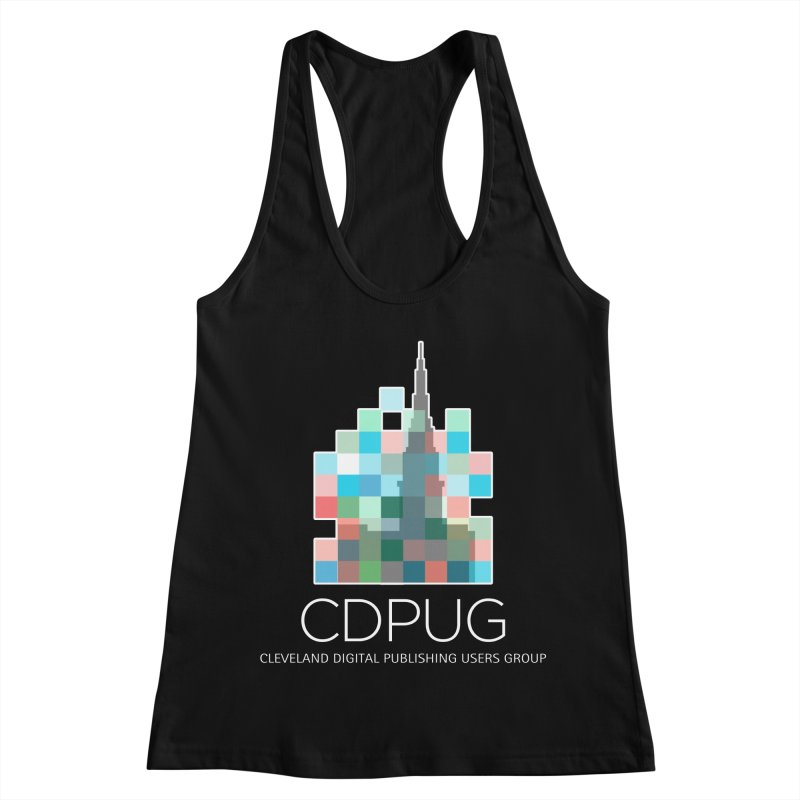 Logo with white letters Women's Racerback Tank by CDPUG's Artist Shop