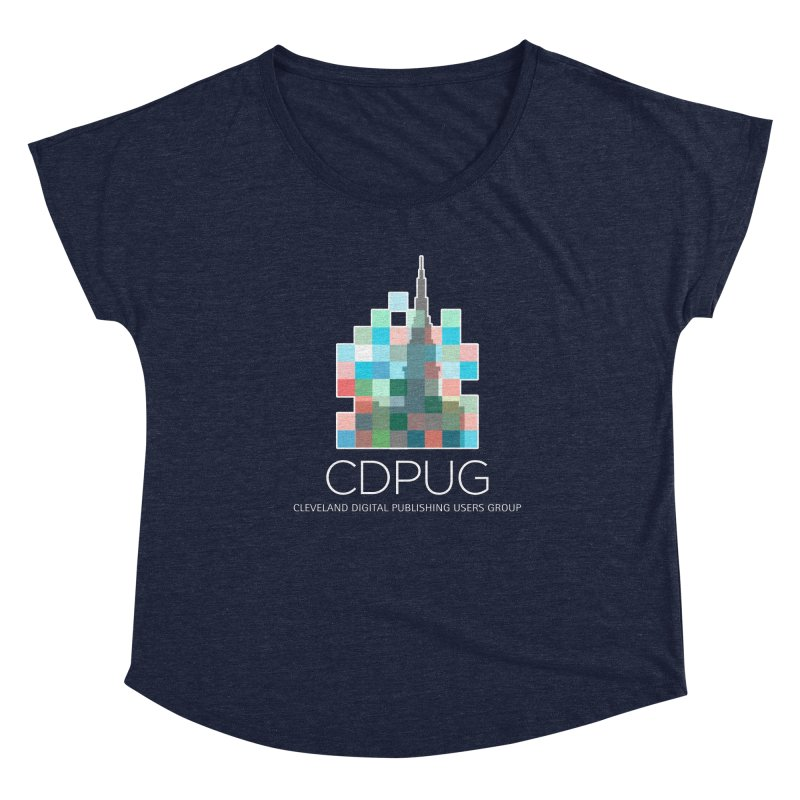 Logo with white letters Women's Scoop Neck by CDPUG's Artist Shop