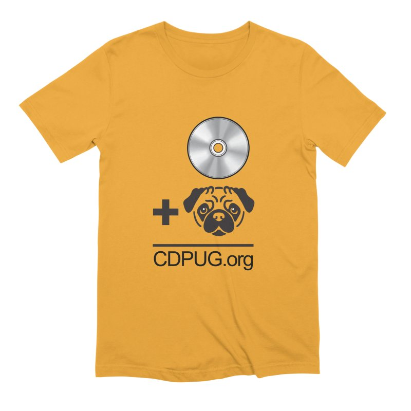 CD + PUG logo by Jeff Poplar Men's Extra Soft T-Shirt by CDPUG's Artist Shop