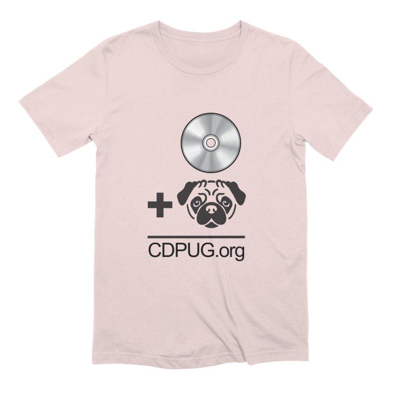 CD + PUG logo by Jeff Poplar Men's T-Shirt by CDPUG's Artist Shop