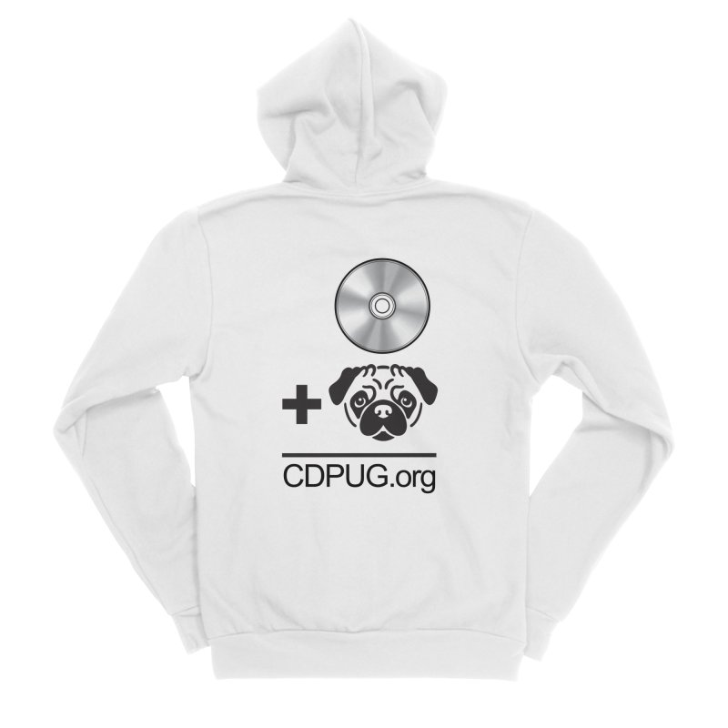 CD + PUG logo by Jeff Poplar Men's Sponge Fleece Zip-Up Hoody by CDPUG's Artist Shop