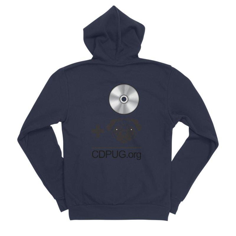 CD + PUG logo by Jeff Poplar Women's Sponge Fleece Zip-Up Hoody by CDPUG's Artist Shop