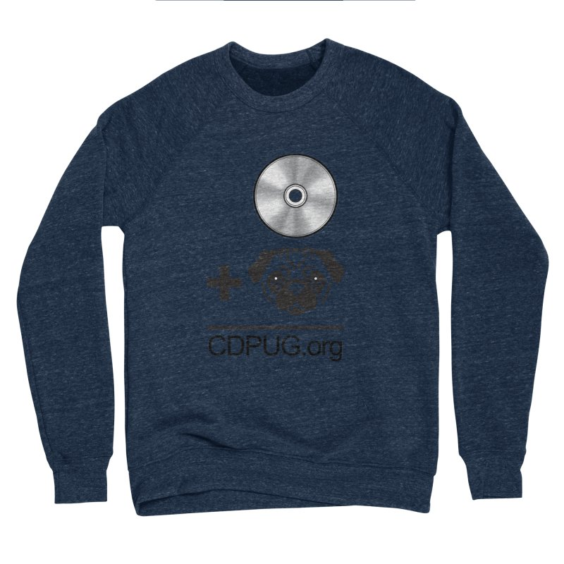 CD + PUG logo by Jeff Poplar Men's Sponge Fleece Sweatshirt by CDPUG's Artist Shop