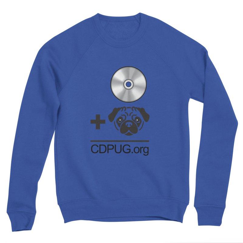 CD + PUG logo by Jeff Poplar Men's Sweatshirt by CDPUG's Artist Shop