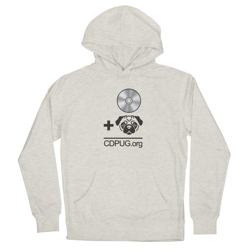 CD + PUG logo by Jeff Poplar Men's Pullover Hoody by CDPUG's Artist Shop