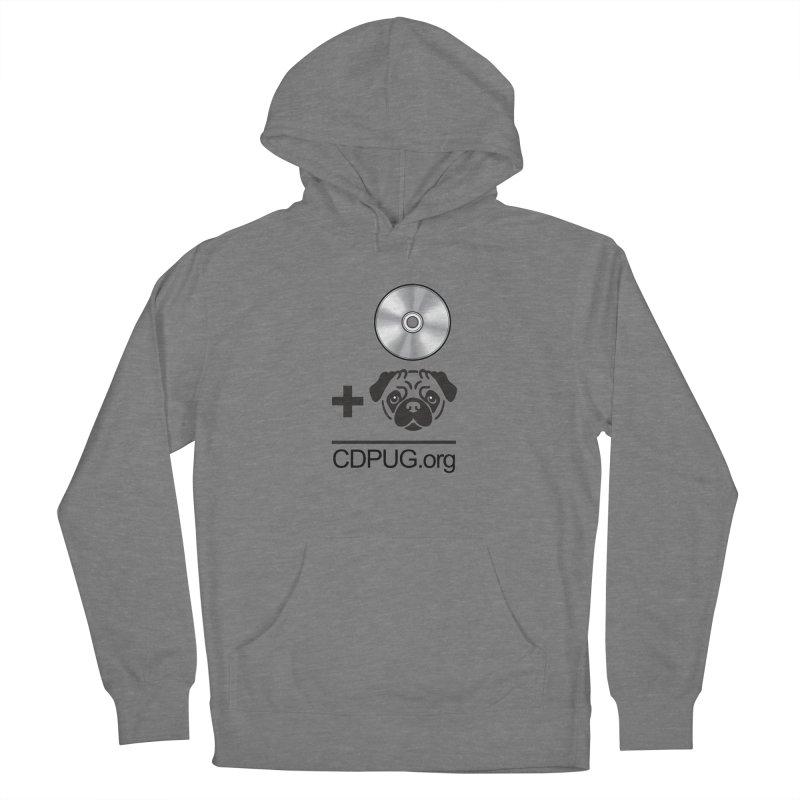 CD + PUG logo by Jeff Poplar Women's Pullover Hoody by CDPUG's Artist Shop