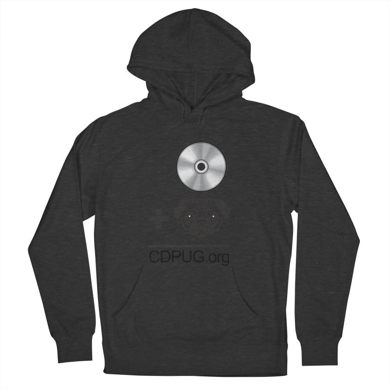 CD + PUG logo by Jeff Poplar Women's French Terry Pullover Hoody by CDPUG's Artist Shop