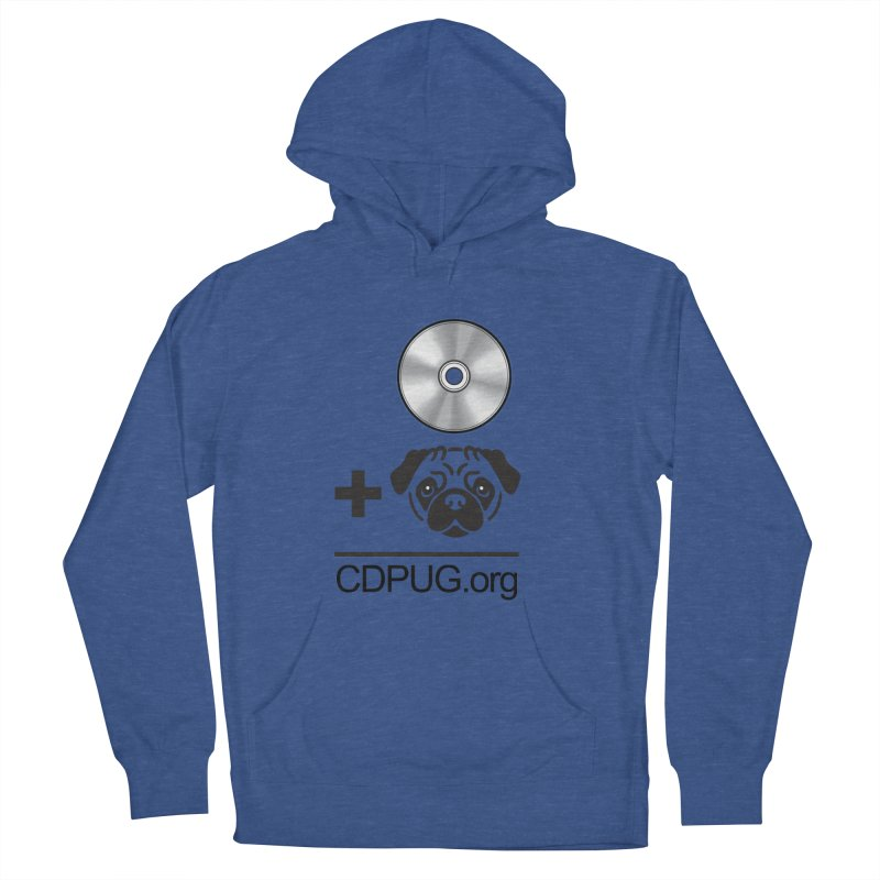 CD + PUG logo by Jeff Poplar Men's French Terry Pullover Hoody by CDPUG's Artist Shop