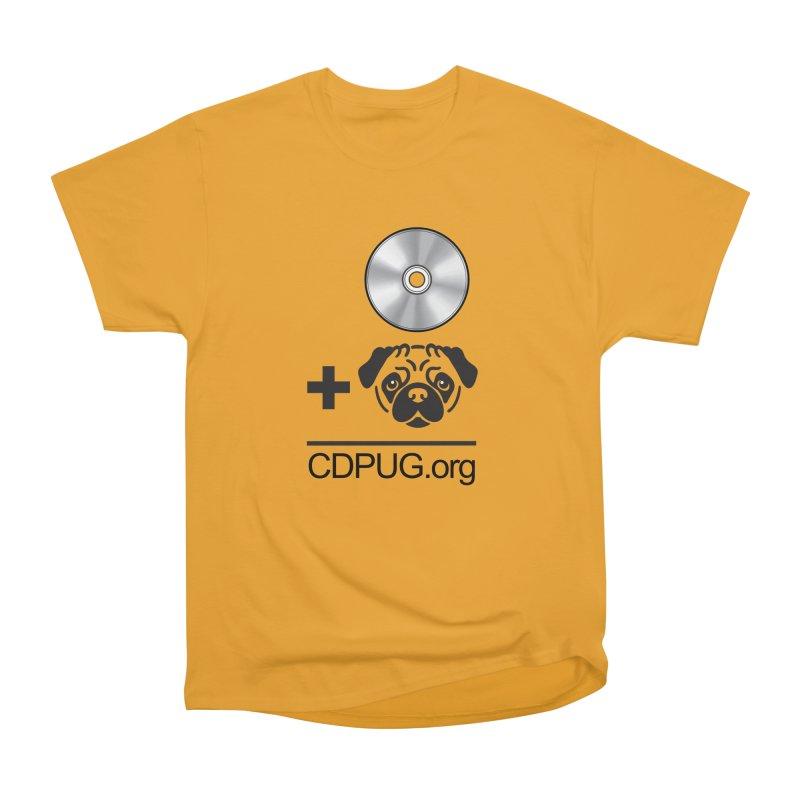CD + PUG logo by Jeff Poplar Men's Heavyweight T-Shirt by CDPUG's Artist Shop