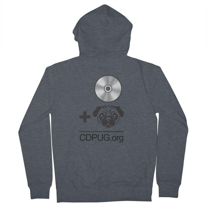CD + PUG logo by Jeff Poplar Women's Zip-Up Hoody by CDPUG's Artist Shop