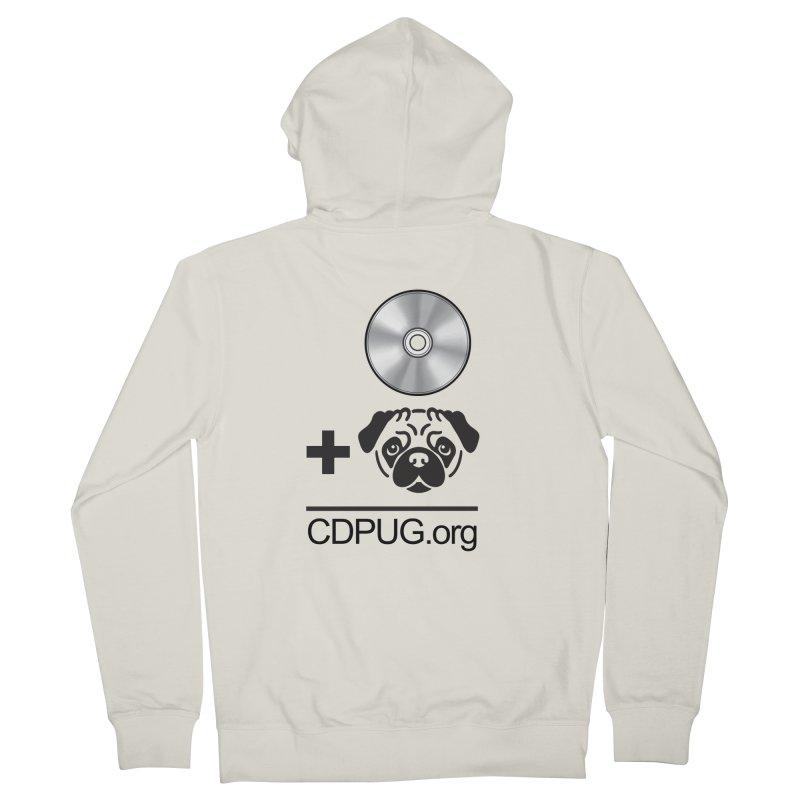 CD + PUG logo by Jeff Poplar Men's Zip-Up Hoody by CDPUG's Artist Shop