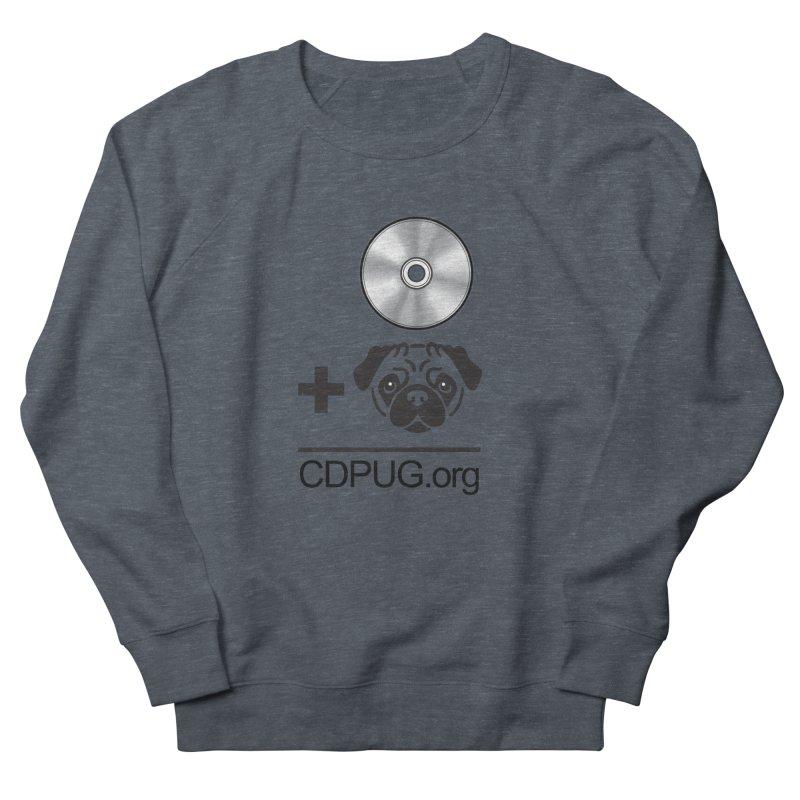 CD + PUG logo by Jeff Poplar Women's Sweatshirt by CDPUG's Artist Shop