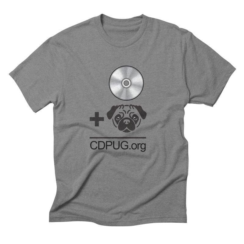 CD + PUG logo by Jeff Poplar Men's Triblend T-Shirt by CDPUG's Artist Shop