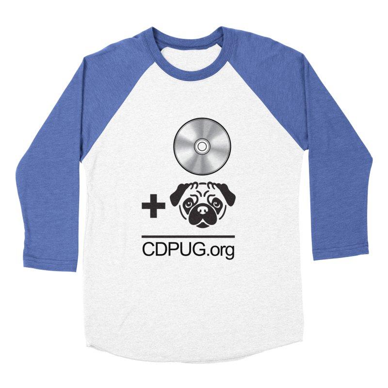 CD + PUG logo by Jeff Poplar Men's Baseball Triblend Longsleeve T-Shirt by CDPUG's Artist Shop