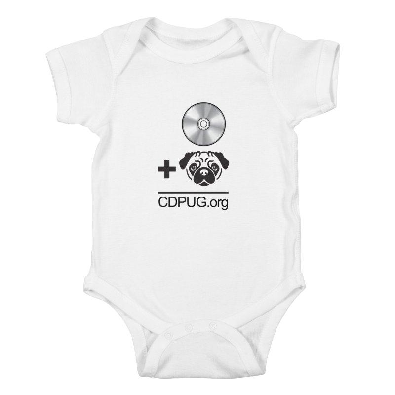 CD + PUG logo by Jeff Poplar Kids Baby Bodysuit by CDPUG's Artist Shop