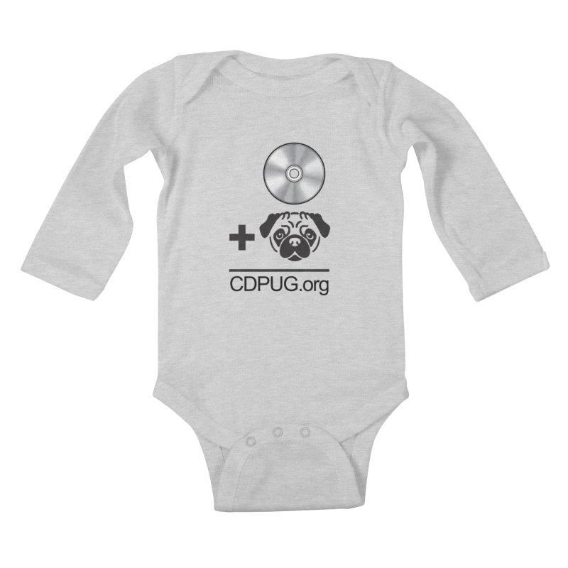 CD + PUG logo by Jeff Poplar Kids Baby Longsleeve Bodysuit by CDPUG's Artist Shop