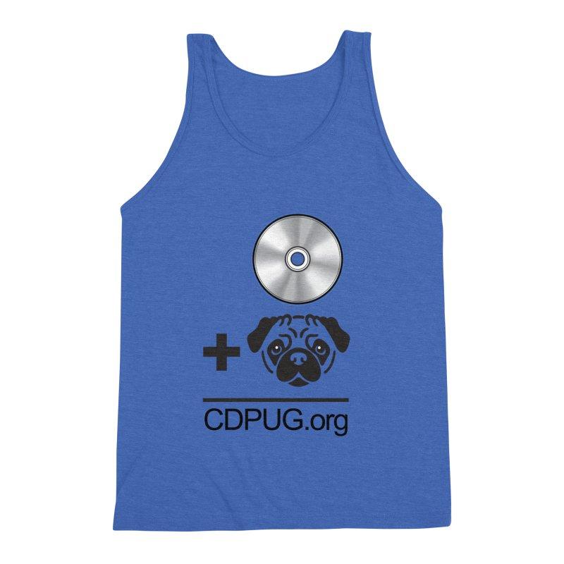 CD + PUG logo by Jeff Poplar Men's Triblend Tank by CDPUG's Artist Shop
