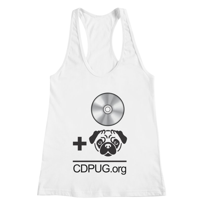 CD + PUG logo by Jeff Poplar Women's Racerback Tank by CDPUG's Artist Shop