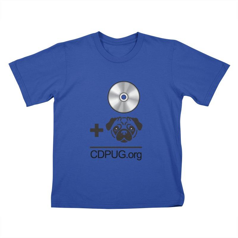 CD + PUG logo by Jeff Poplar Kids T-Shirt by CDPUG's Artist Shop