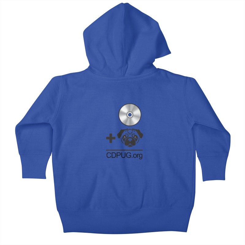CD + PUG logo by Jeff Poplar Kids Baby Zip-Up Hoody by CDPUG's Artist Shop
