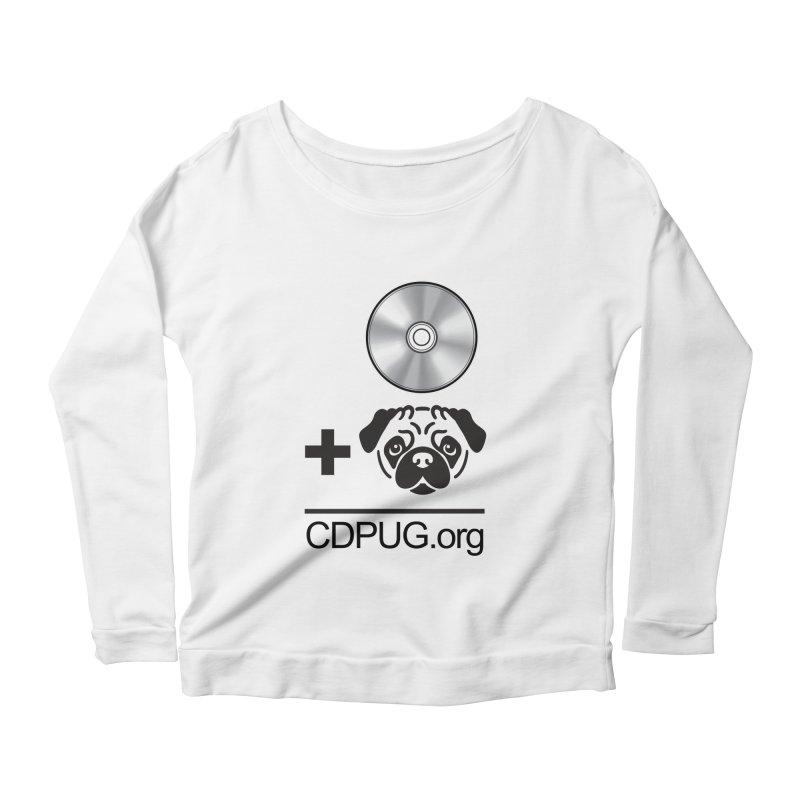CD + PUG logo by Jeff Poplar Women's Longsleeve T-Shirt by CDPUG's Artist Shop