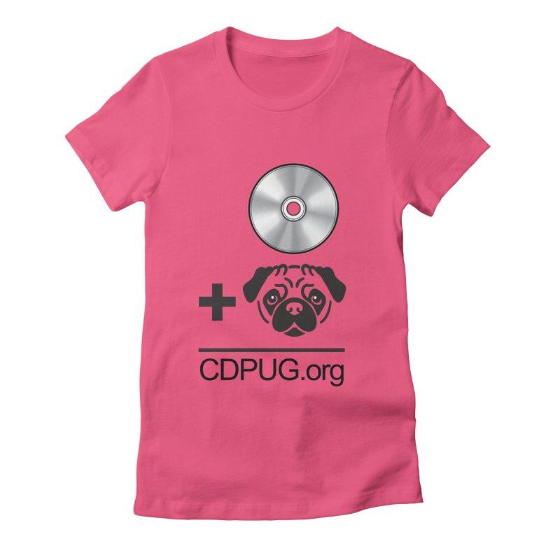 CD + PUG logo by Jeff Poplar Women's Fitted T-Shirt by CDPUG's Artist Shop
