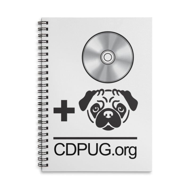 CD + PUG logo by Jeff Poplar Accessories Notebook by CDPUG's Artist Shop