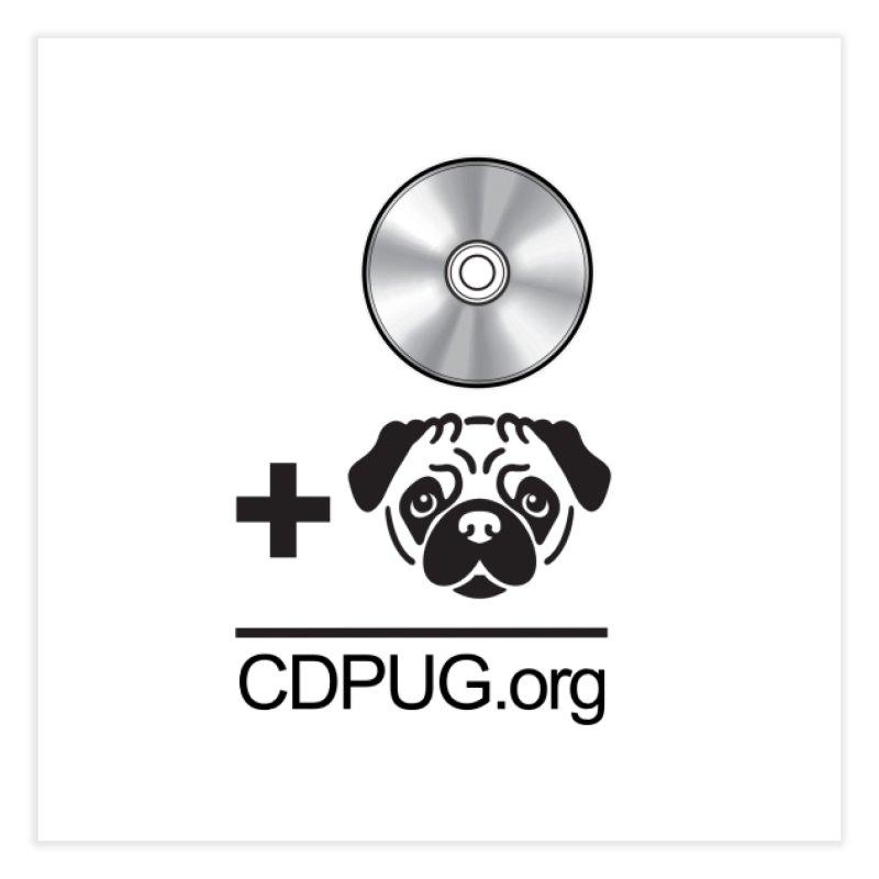 CD + PUG logo by Jeff Poplar Home Fine Art Print by CDPUG's Artist Shop