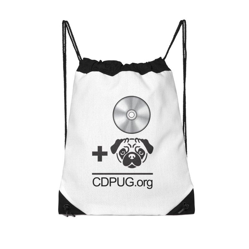 CD + PUG logo by Jeff Poplar Accessories Bag by CDPUG's Artist Shop