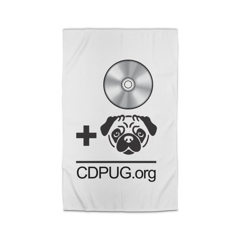 CD + PUG logo by Jeff Poplar Home Rug by CDPUG's Artist Shop