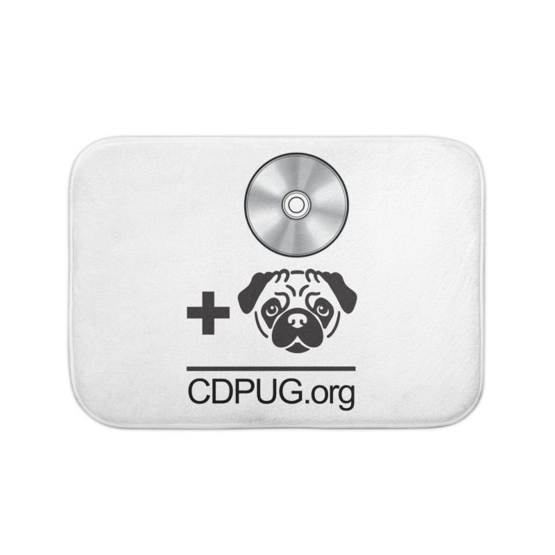 CD + PUG logo by Jeff Poplar Home Bath Mat by CDPUG's Artist Shop