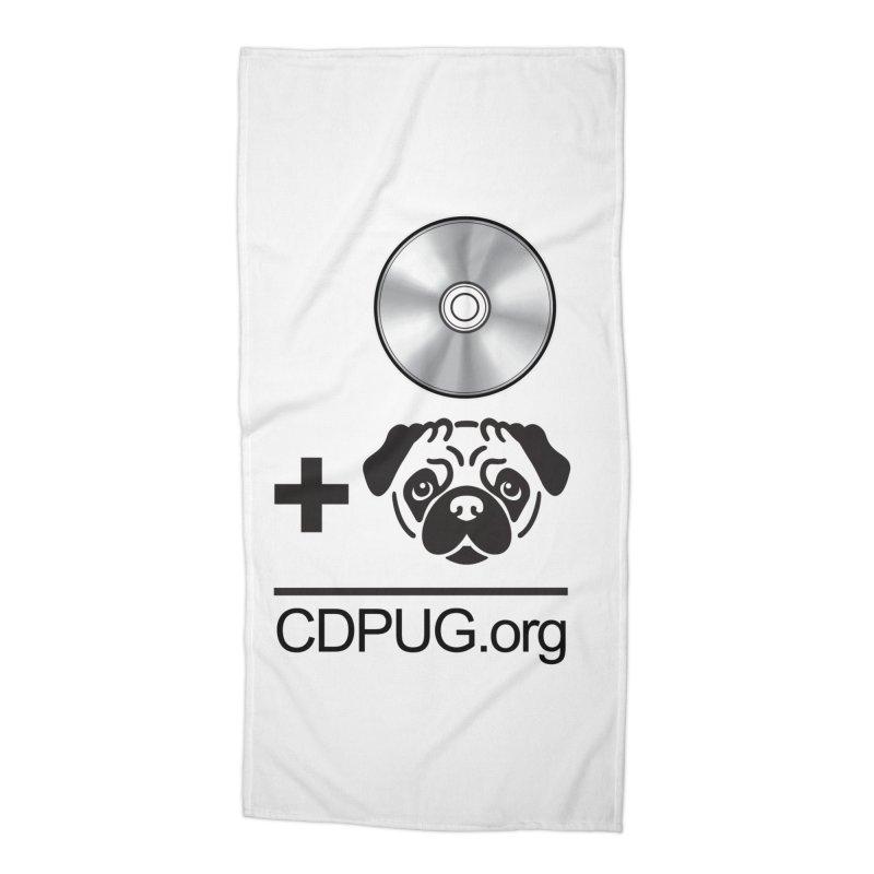 CD + PUG logo by Jeff Poplar Accessories Beach Towel by CDPUG's Artist Shop