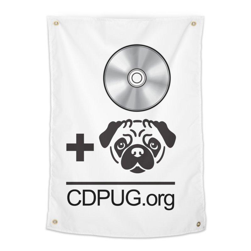 CD + PUG logo by Jeff Poplar Home Tapestry by CDPUG's Artist Shop