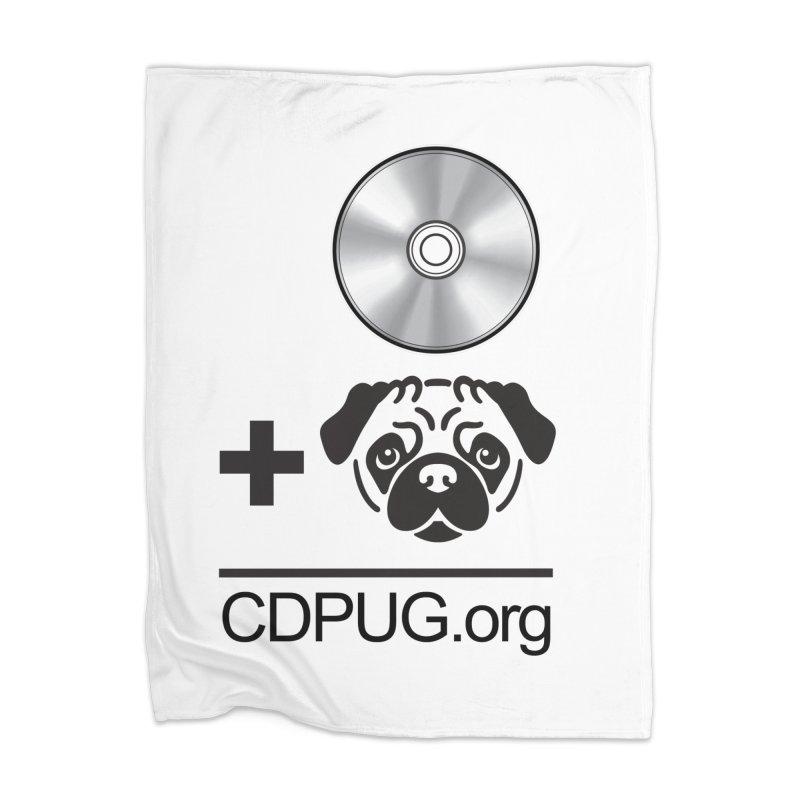 CD + PUG logo by Jeff Poplar Home Blanket by CDPUG's Artist Shop