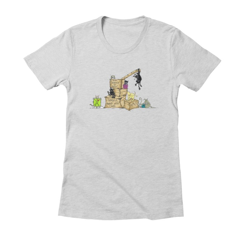 Team Scratch N' Dent Women's Fitted T-Shirt by CGMFF